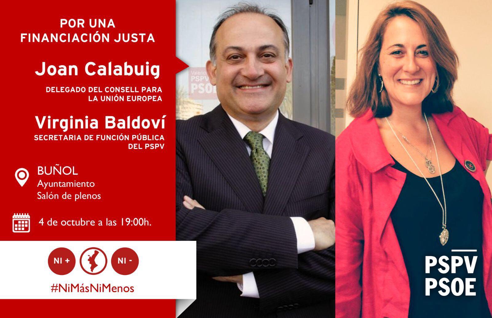 Joan Calabuig y Virginia Baldoví.