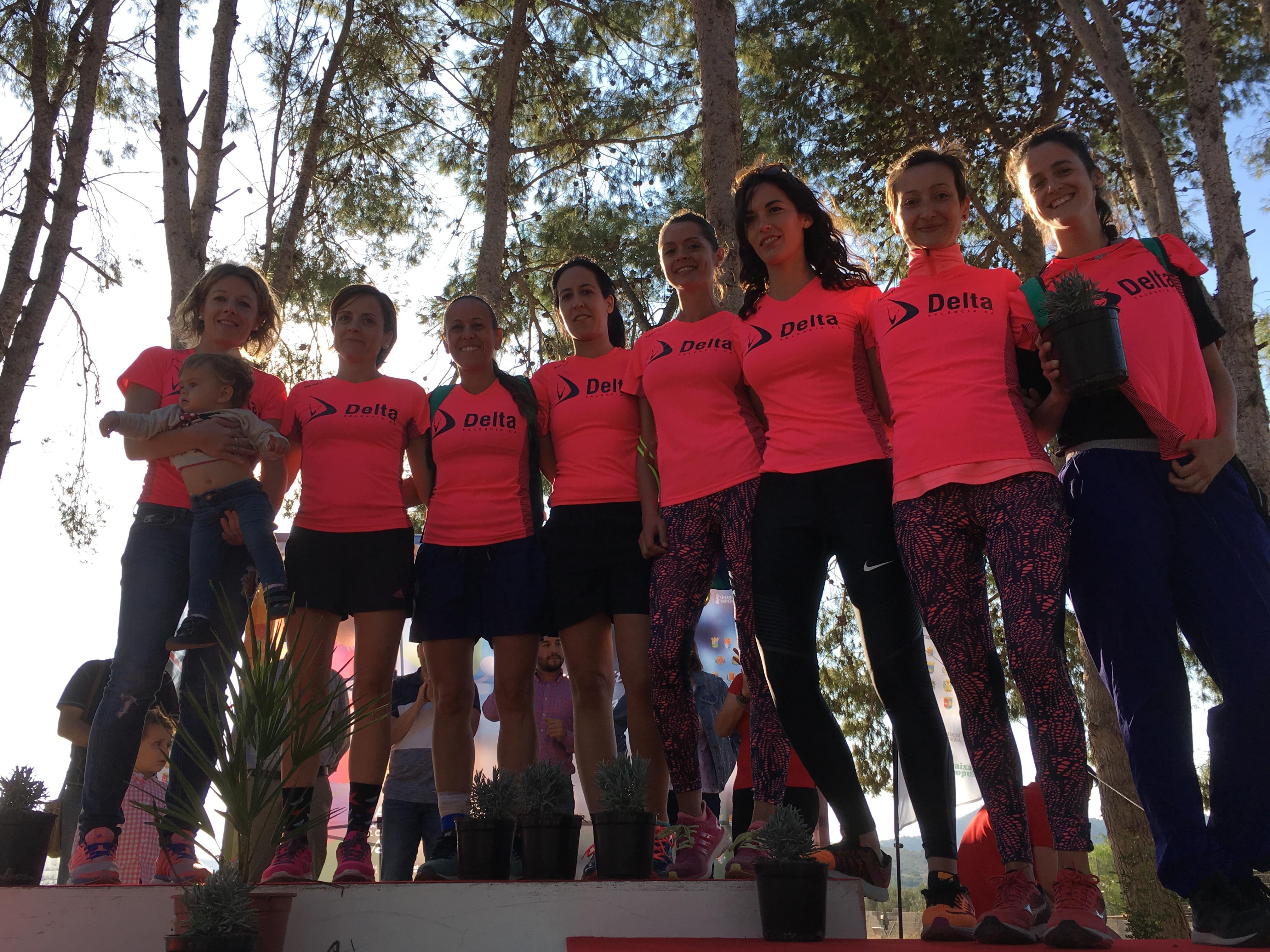 Integrantes del Club de Atletismo Delta que han participado en la modalidad femenina.