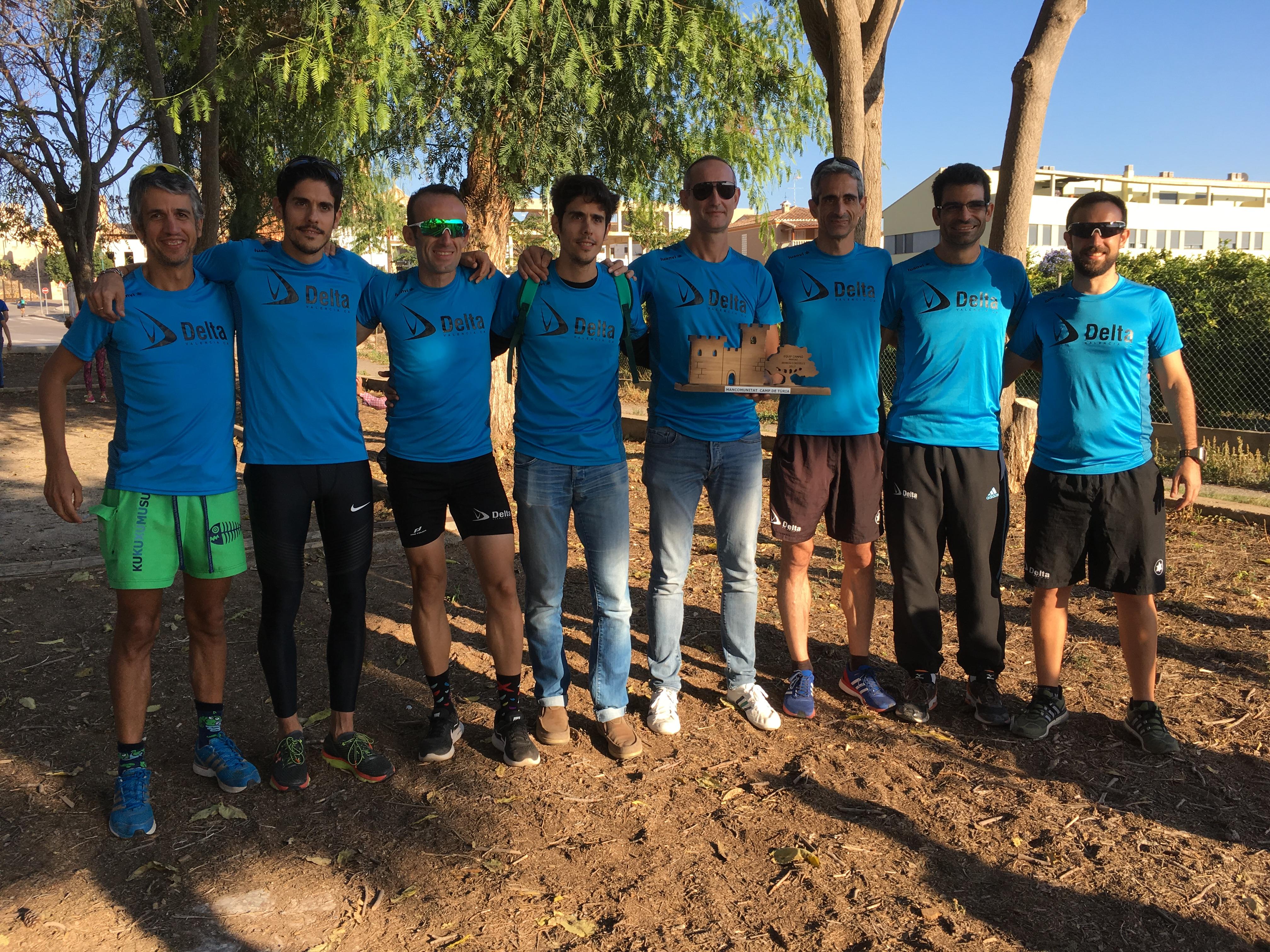 Integrantes del Club de Atletismo Delta que han participado en la modalidad masculina.