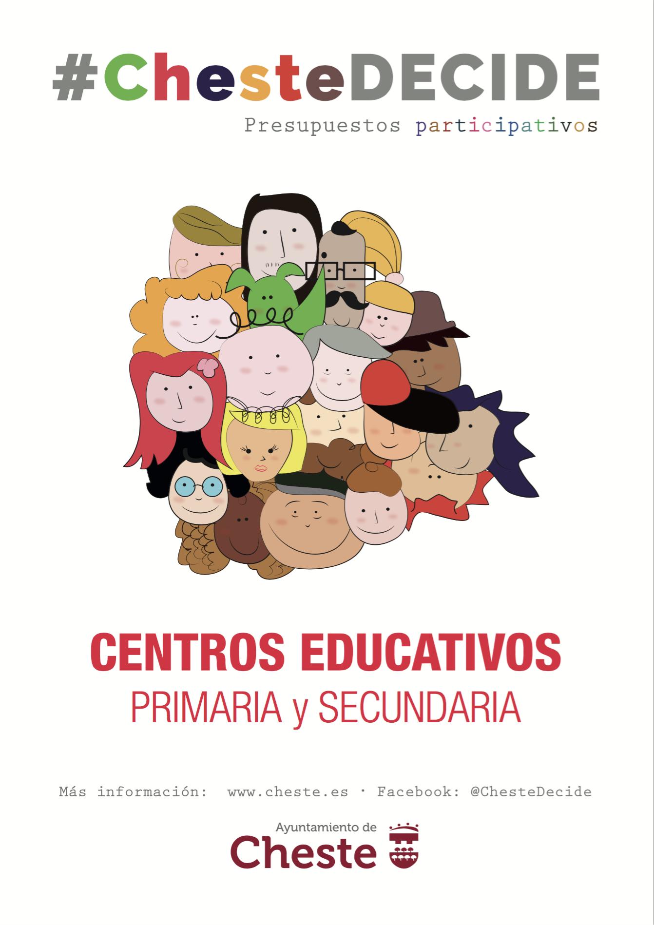 Cartel #ChesteDecide para los centros educativos.