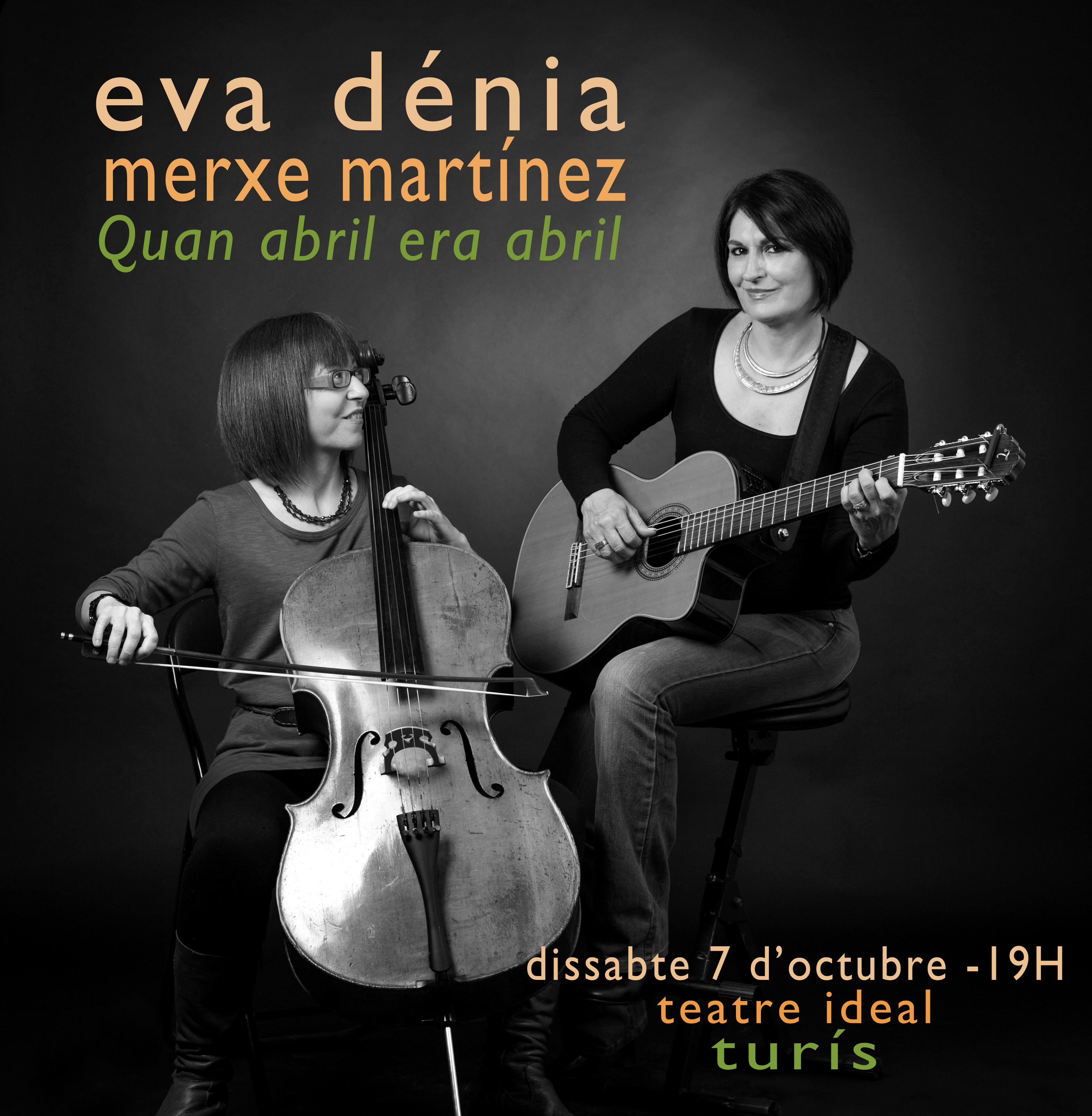 """Concierto """"Quan abril era abril"""", de Eva Dénia y Merxe Martínez."""