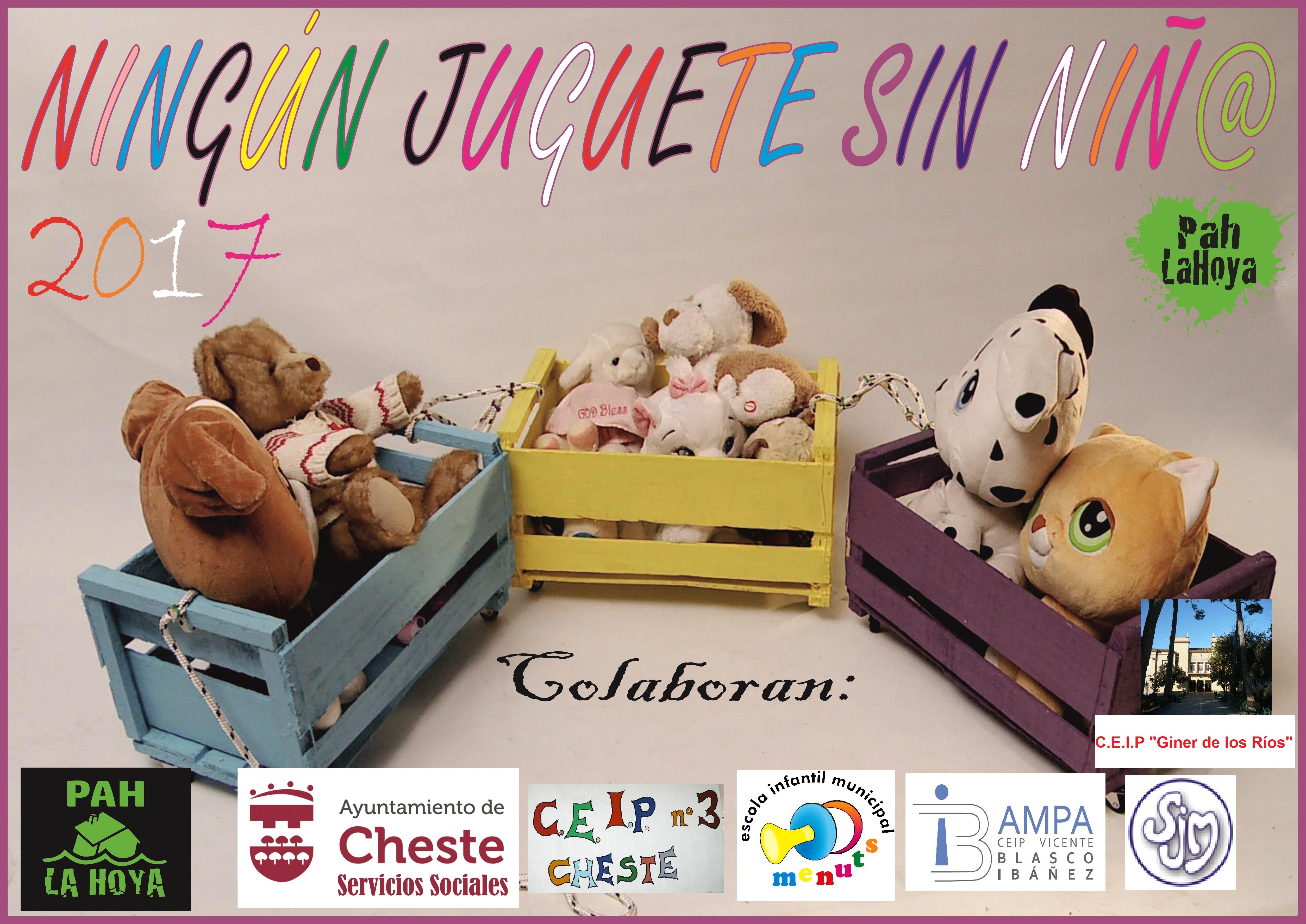 Cartel de la campaña que se ha organizado en Cheste.