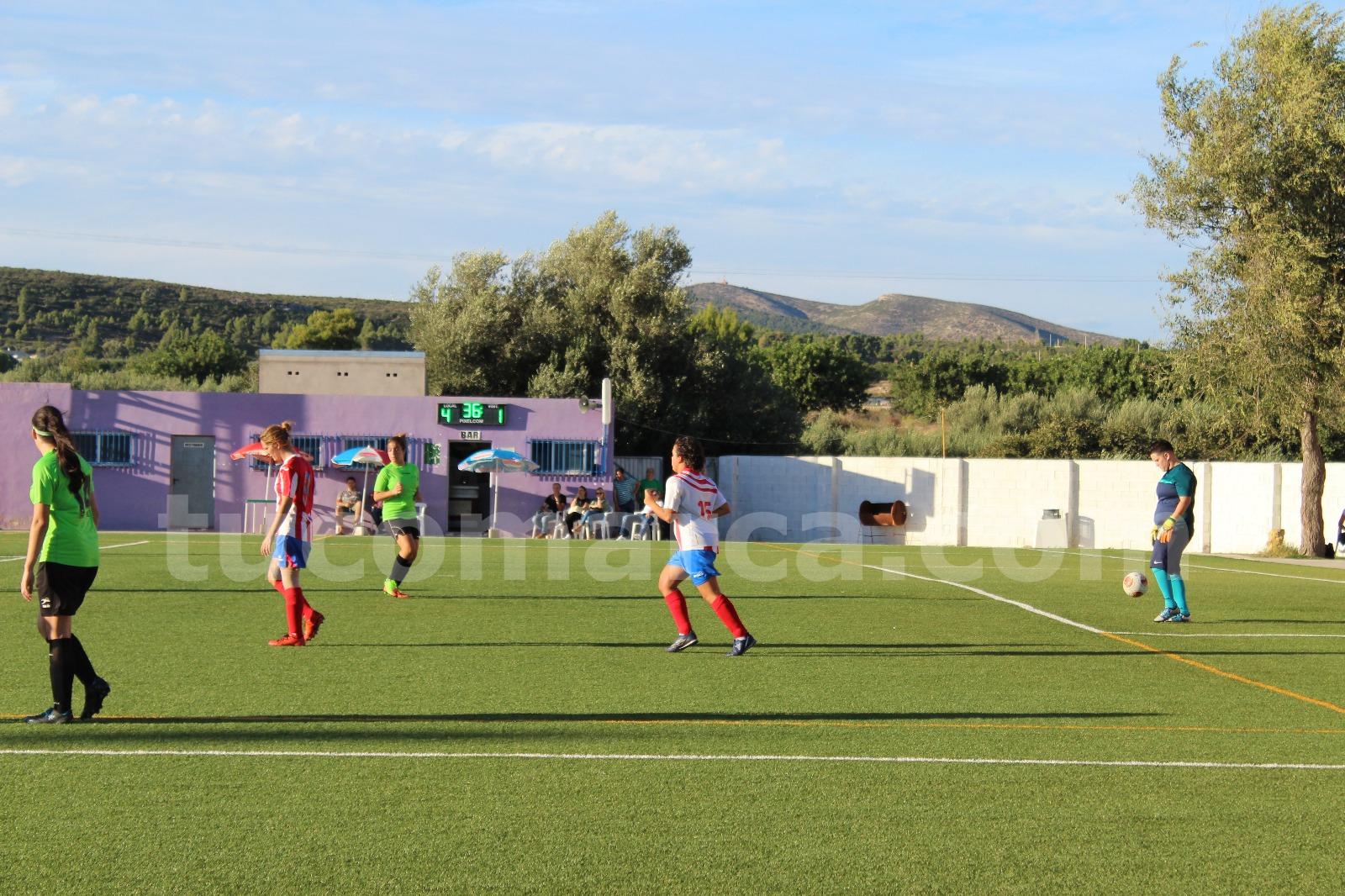 Las jugadoras de la UD Yátova se han impuesto al Náquera.