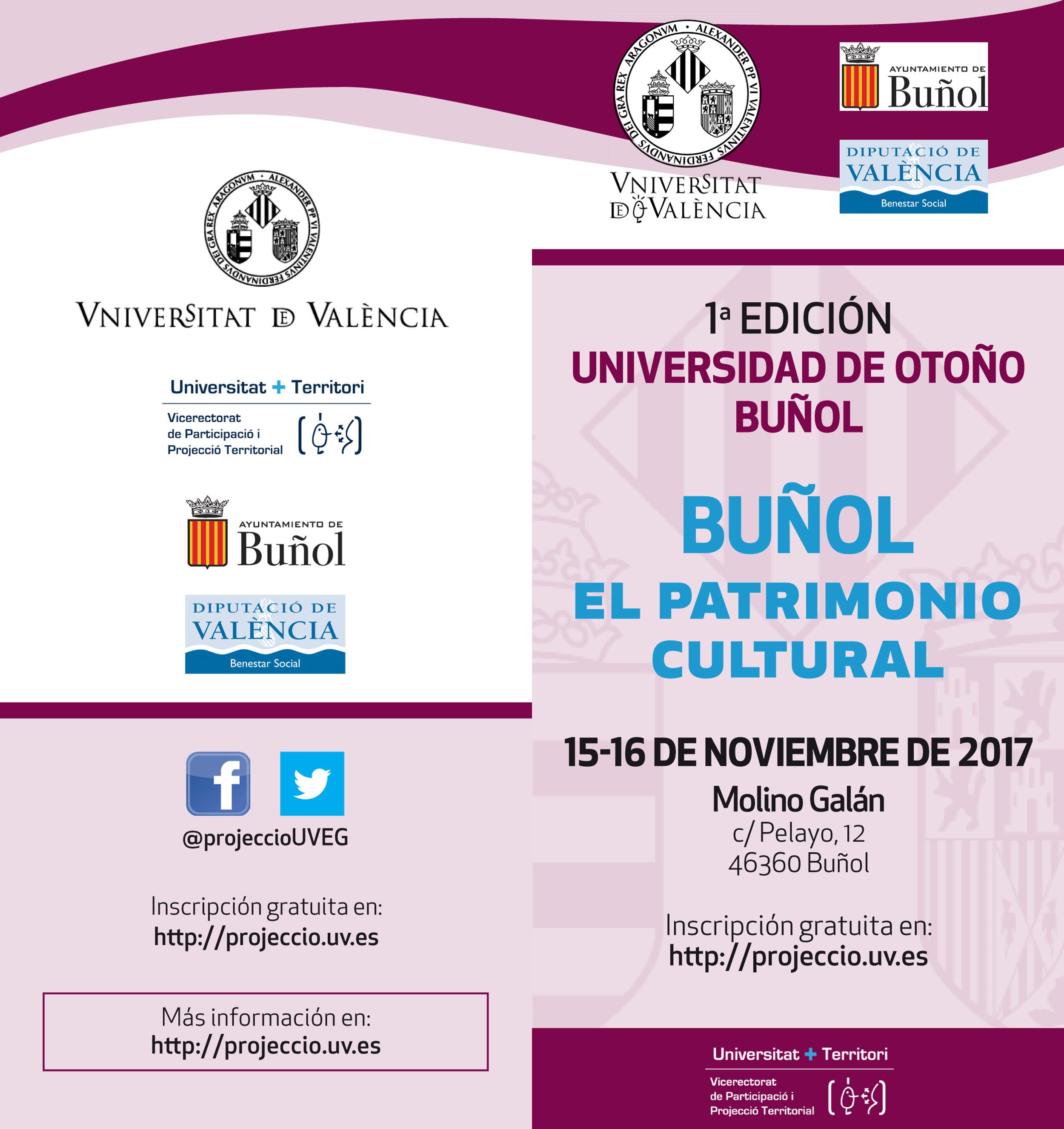 Cartel de la iniciativa que acoge Buñol.