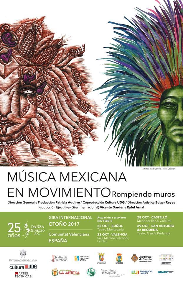 """""""Música mexicana en movimiento"""" representa las tradiciones, las costumbres y el colorido de México, utilizando para ello piezas de grandes compositores nacionales."""