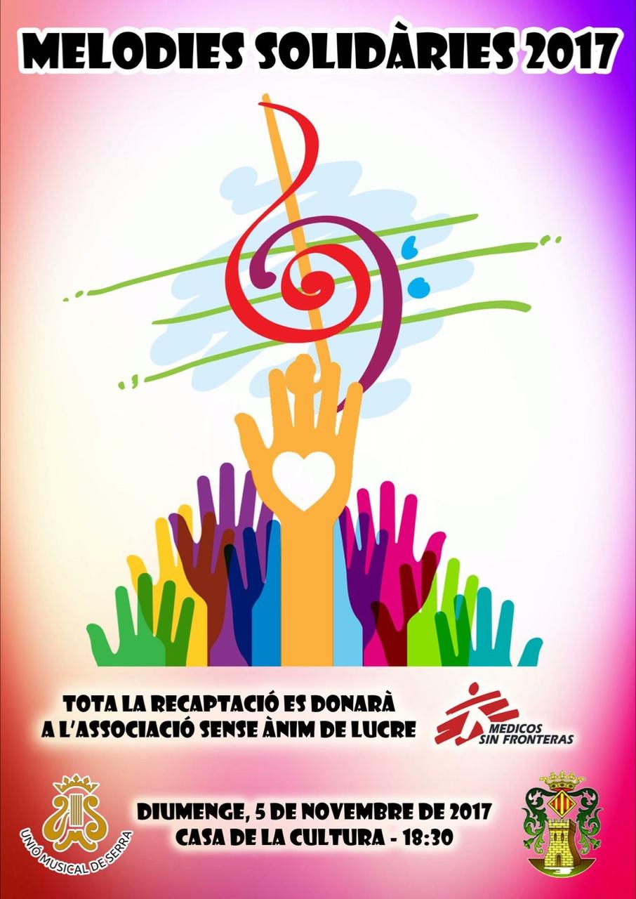 Cartel anunciador del concierto a favor de Médicos sin fronteras.