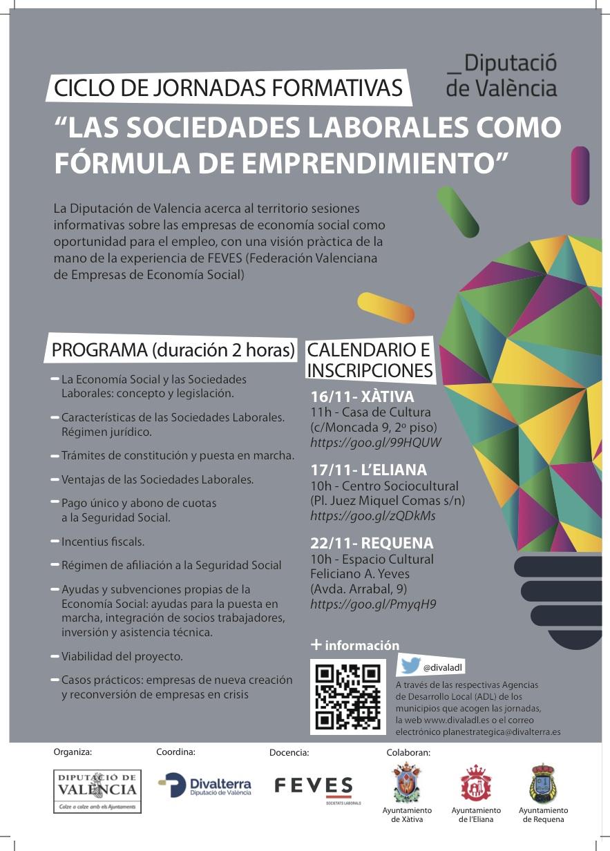 Cartel de la iniciativa que se desarrolla en Requena.