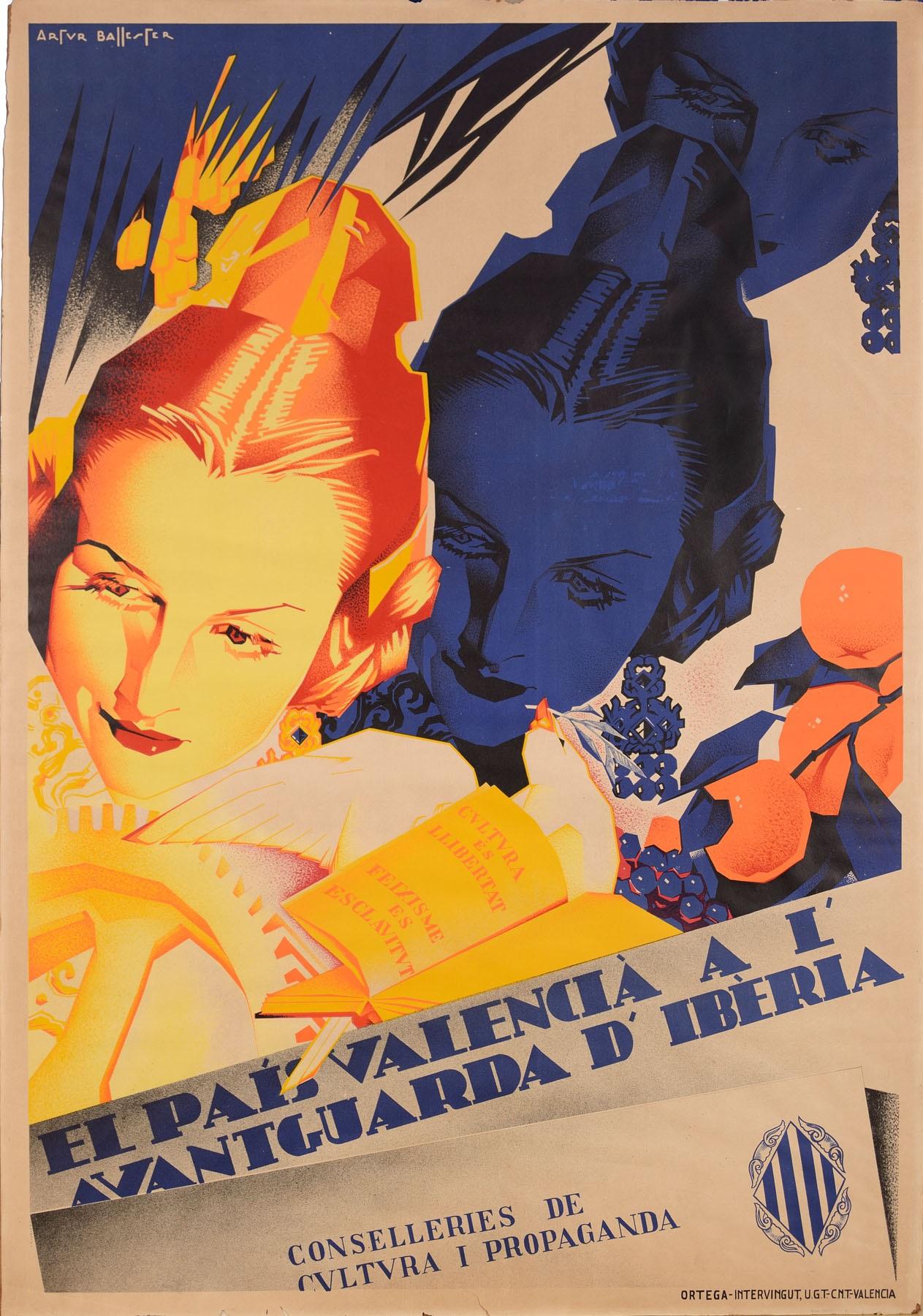 Cartel da Artur Ballester que forma parte 'Estètica Republicana a València. Innovacions i pervivències (1931-1939)'.