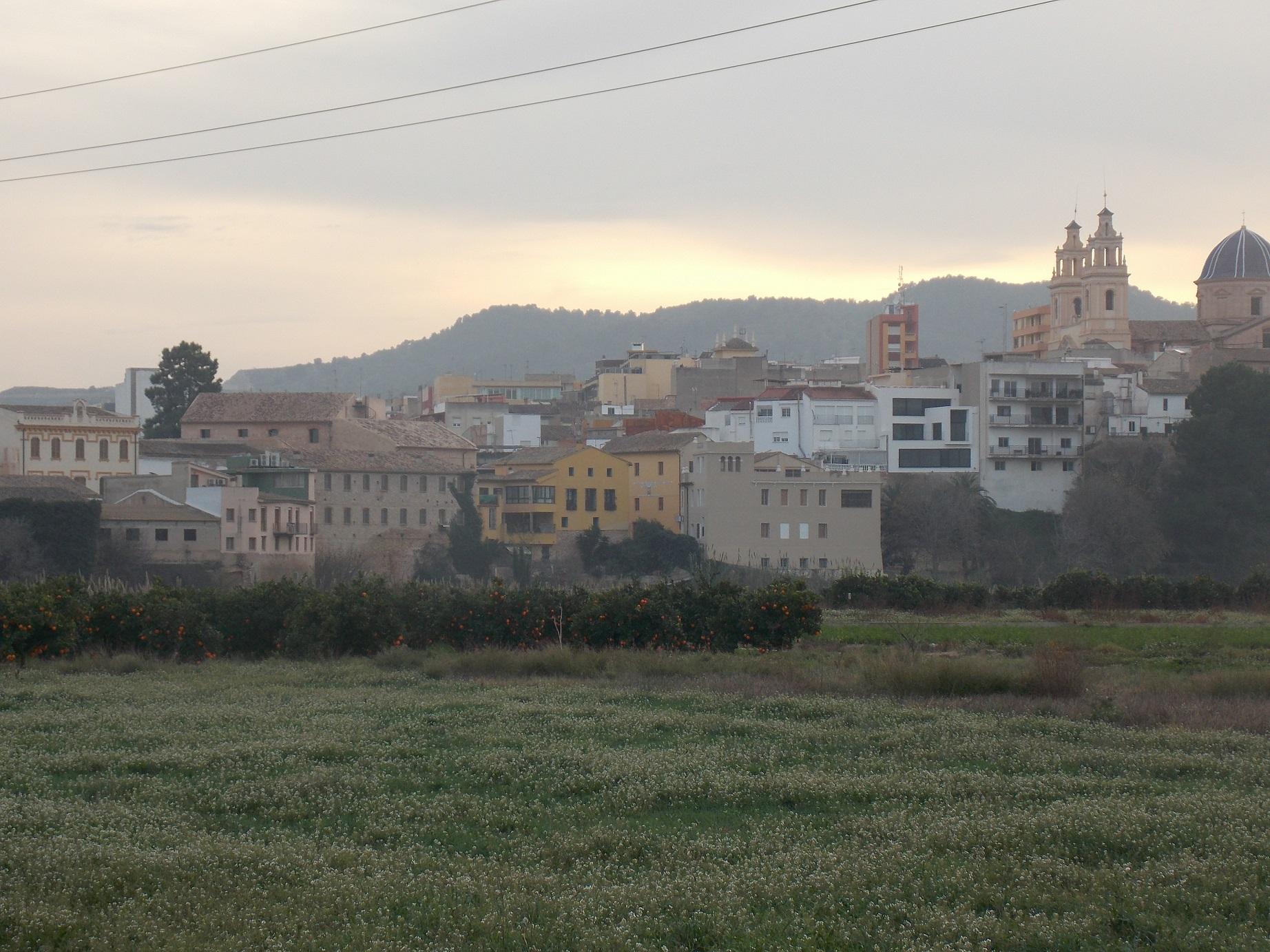 Una imagen panorámica de la localidad de Riba-roja del Túria.