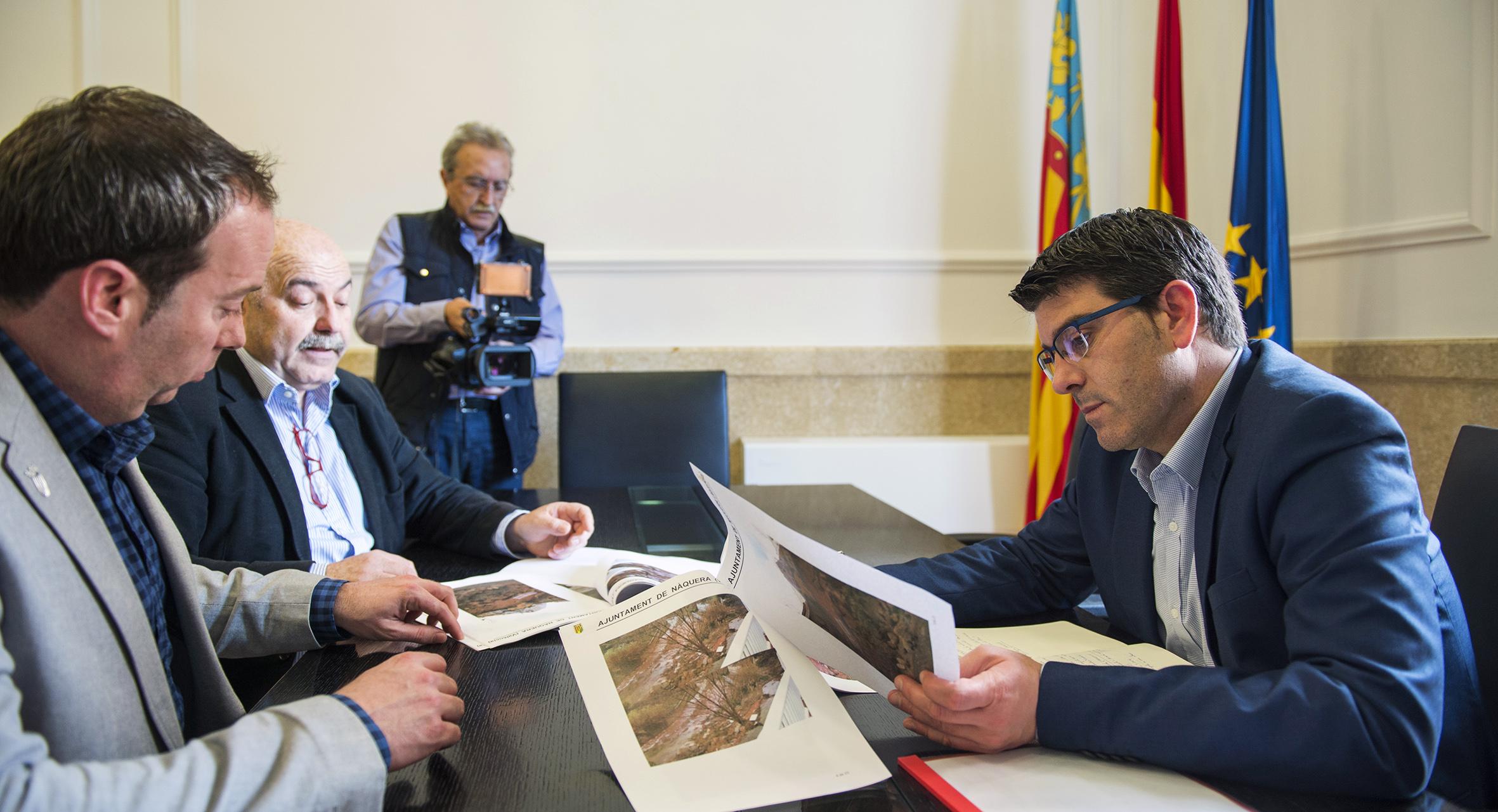 La Diputació ayuda a Nàquera a solucionar el problema de las inundaciones en sus barrios.