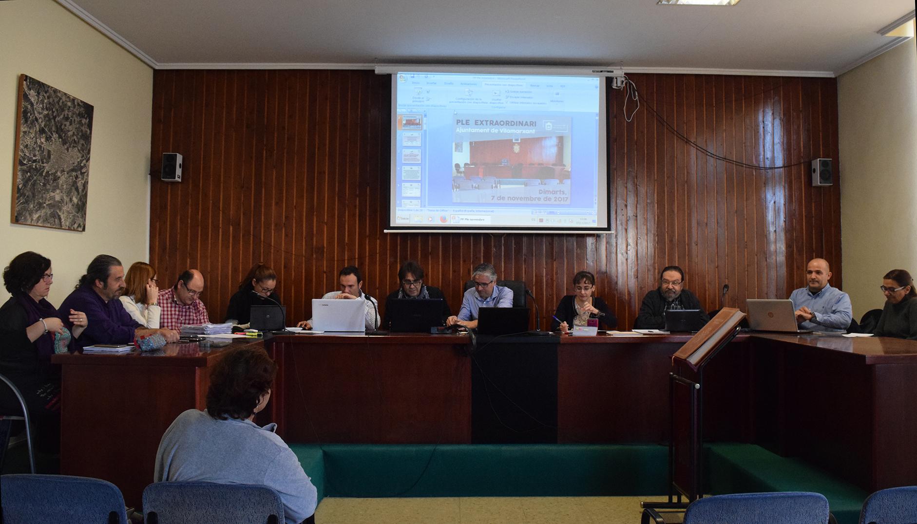 S'ha decidit, per unanimitat, en el ple extraordinari de l'Ajuntament de Vilamarxant que s'ha celebrat este matí. Les modificacions entraran en vigor en gener de 2018.