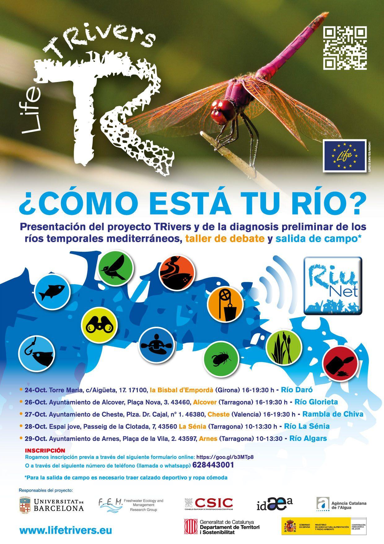 Proyecto europeo Life TRivers, que busca la conservación y la mejora de los ríos temporales mediterráneos.