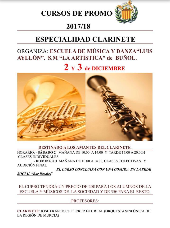 Curso organizado por la S.M. La Artística a través de su Escuela de Música Luis Ayllón.