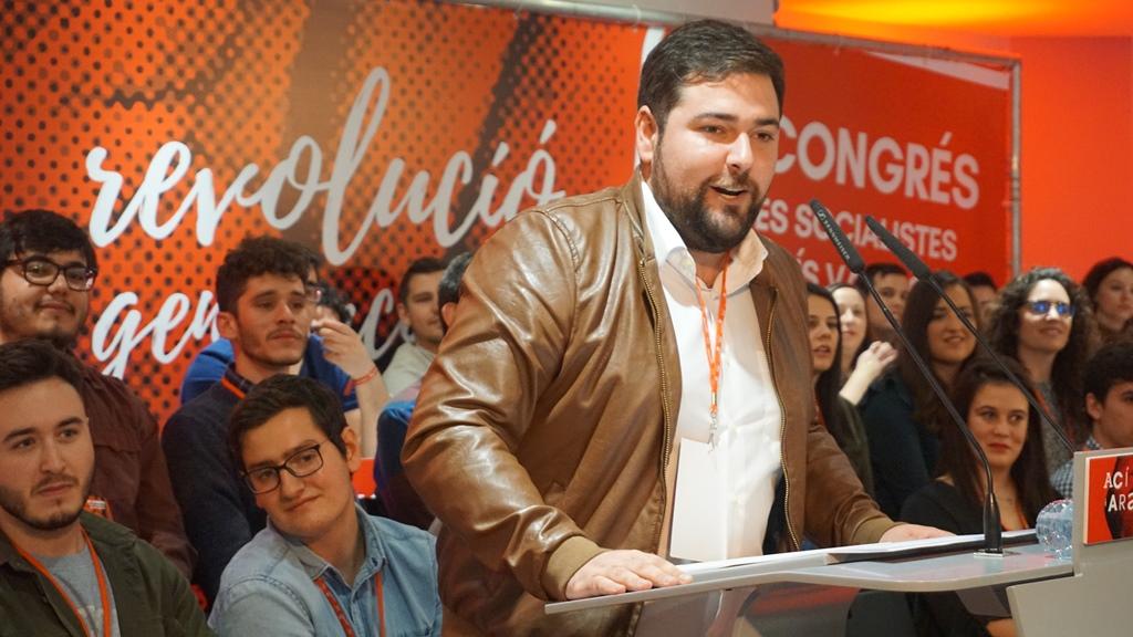 Fran López López (Rafelbunyol, 1991) ha clausurado este domingo el XII Congreso Nacional de Joves Socialistes del País Valencià (JSPV)
