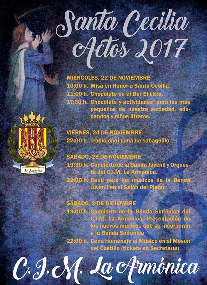 Actividades en la Semana en honor a Santa Cecicilia.