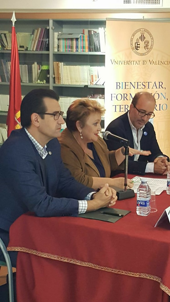 Mercedes Berenguer en la jornada organizada conjuntamente con la Universitat de València.