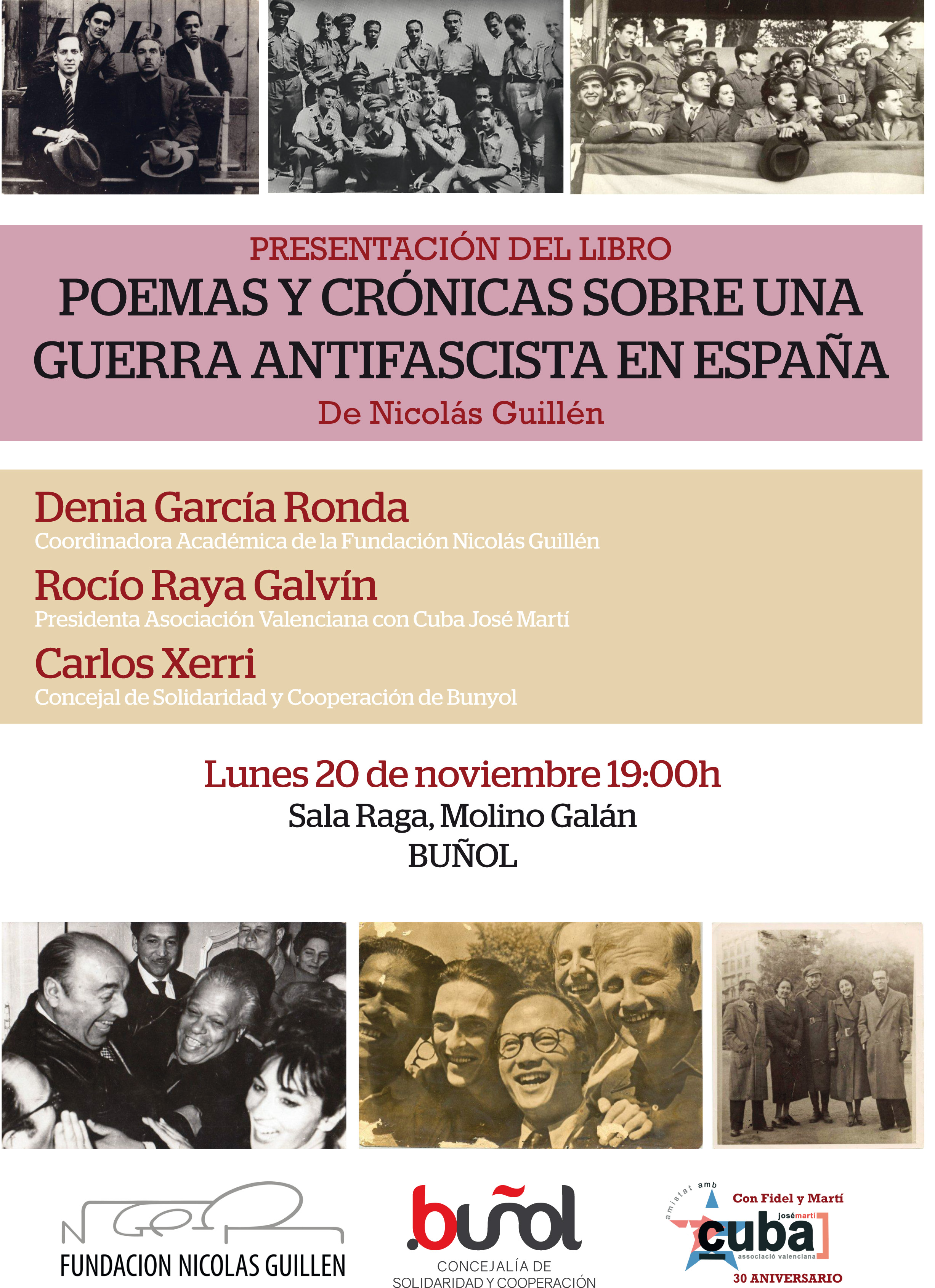 Este acto está enmarcado dentro del 80º aniversario del II Congreso de Intelectuales en Defensa de la Cultura, que se celebró en Valencia en 1937.