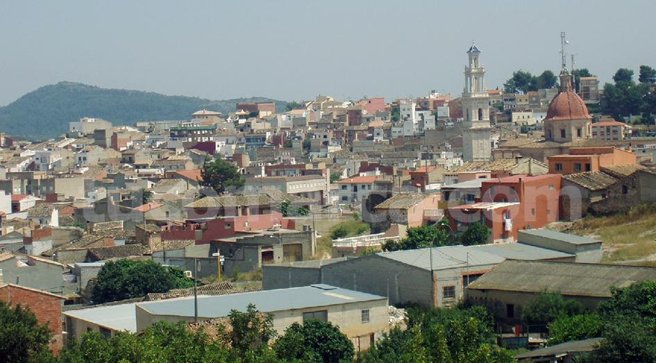 Una imagen panorámica de la población de Turís.