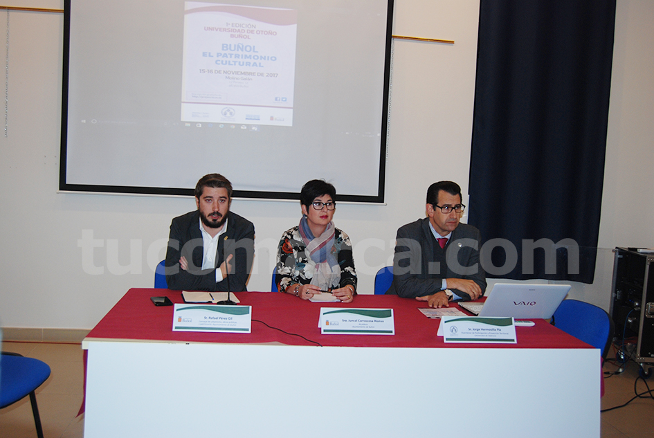 Rafa Pérez, Juncal Carrascosa y Jorge Hermosilla, durante la presentación de la iniciativa.