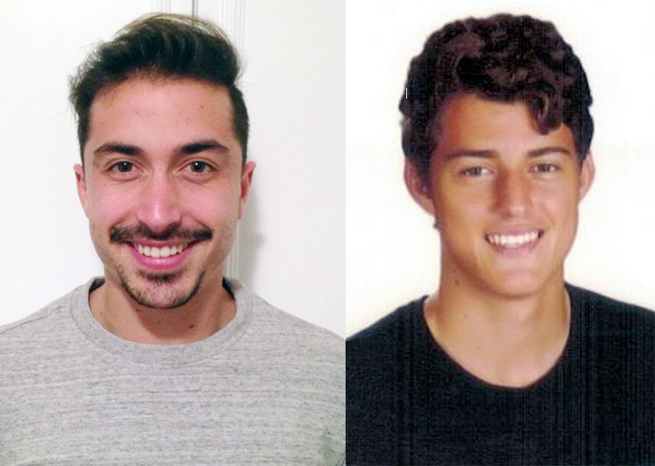 Los laterales Adrián Crespo y Ferrán.