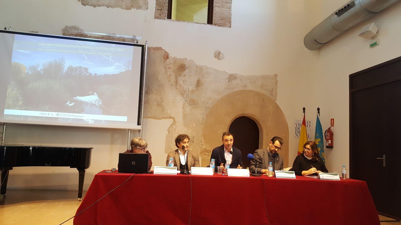 Francesc Colomer ha realizado estas declaraciones durante la presentación del 'Plan Director Territorial Turístico Parc Natural del Túria'.