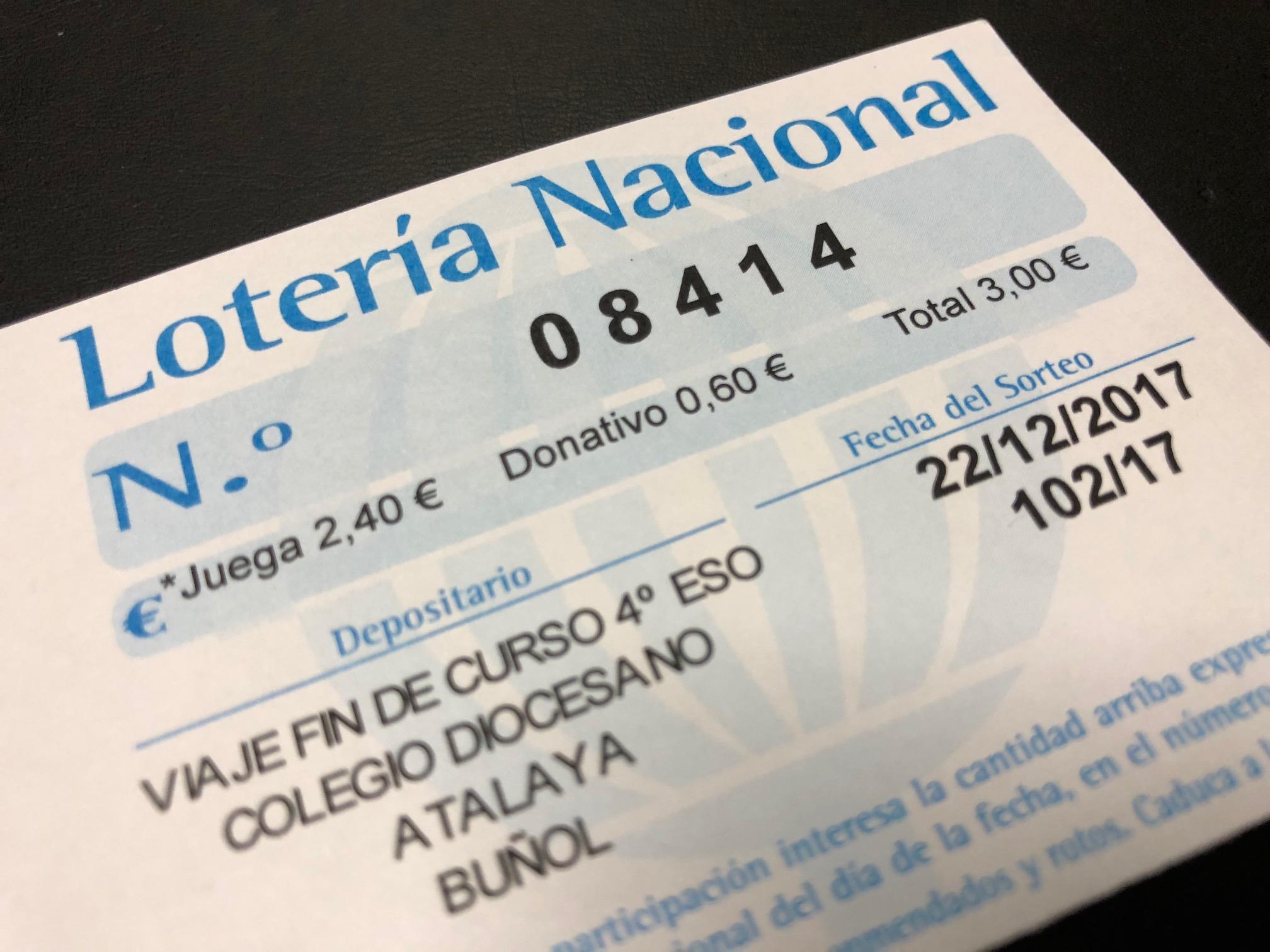La lotería ha sido premiada con 12€ por papeleta.