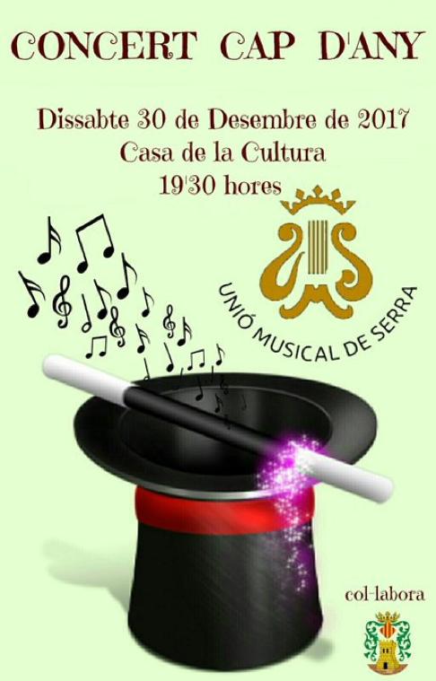 Concert de Cap d'Any de La Unió Musical de Serra.