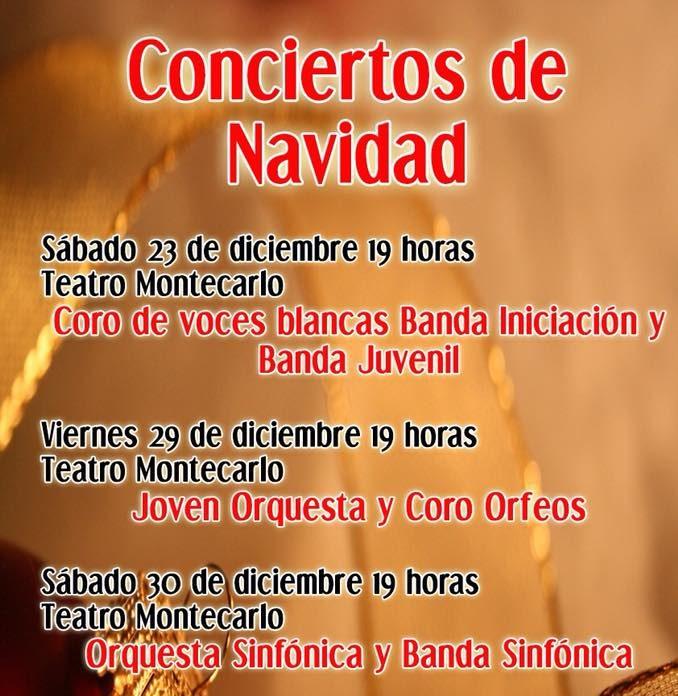 Programa de concierto de Navidad 2017.