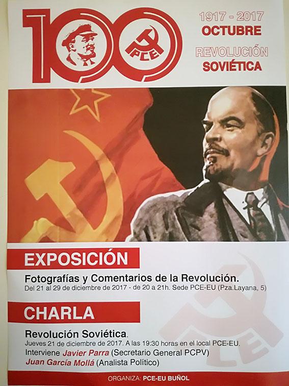 Programa de actos del centenario de la Revolución Soviética en Buñol.