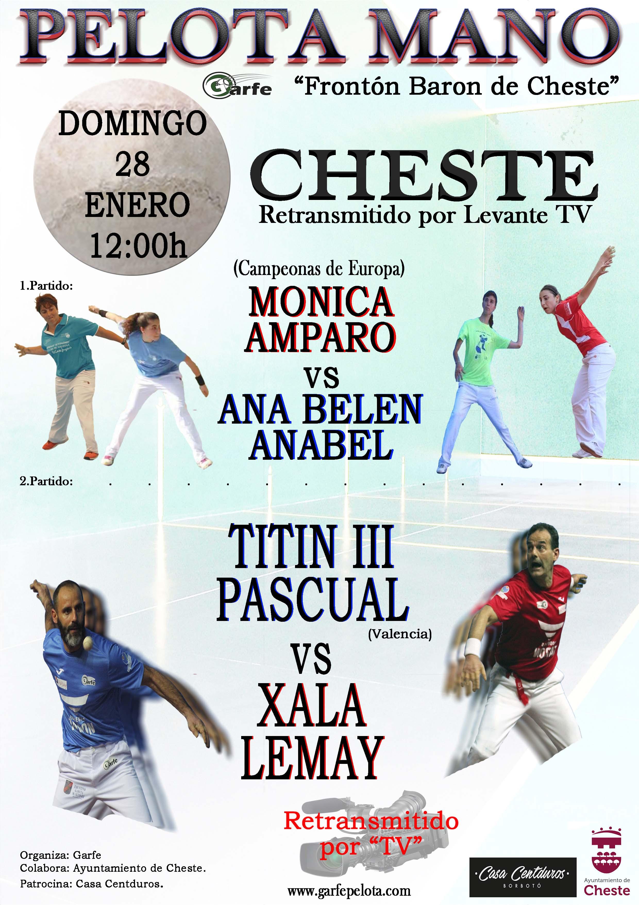 Las entradas ya están disponibles en el bar de frontón barón de Cheste y la organización espera una gran expectación por parte de aficionados de distintos puntos de España.