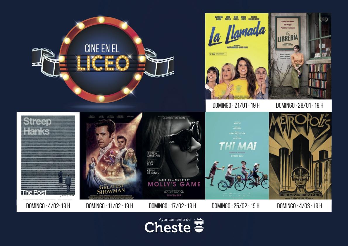 Las películas programadas en el ciclo de cine de Cheste.