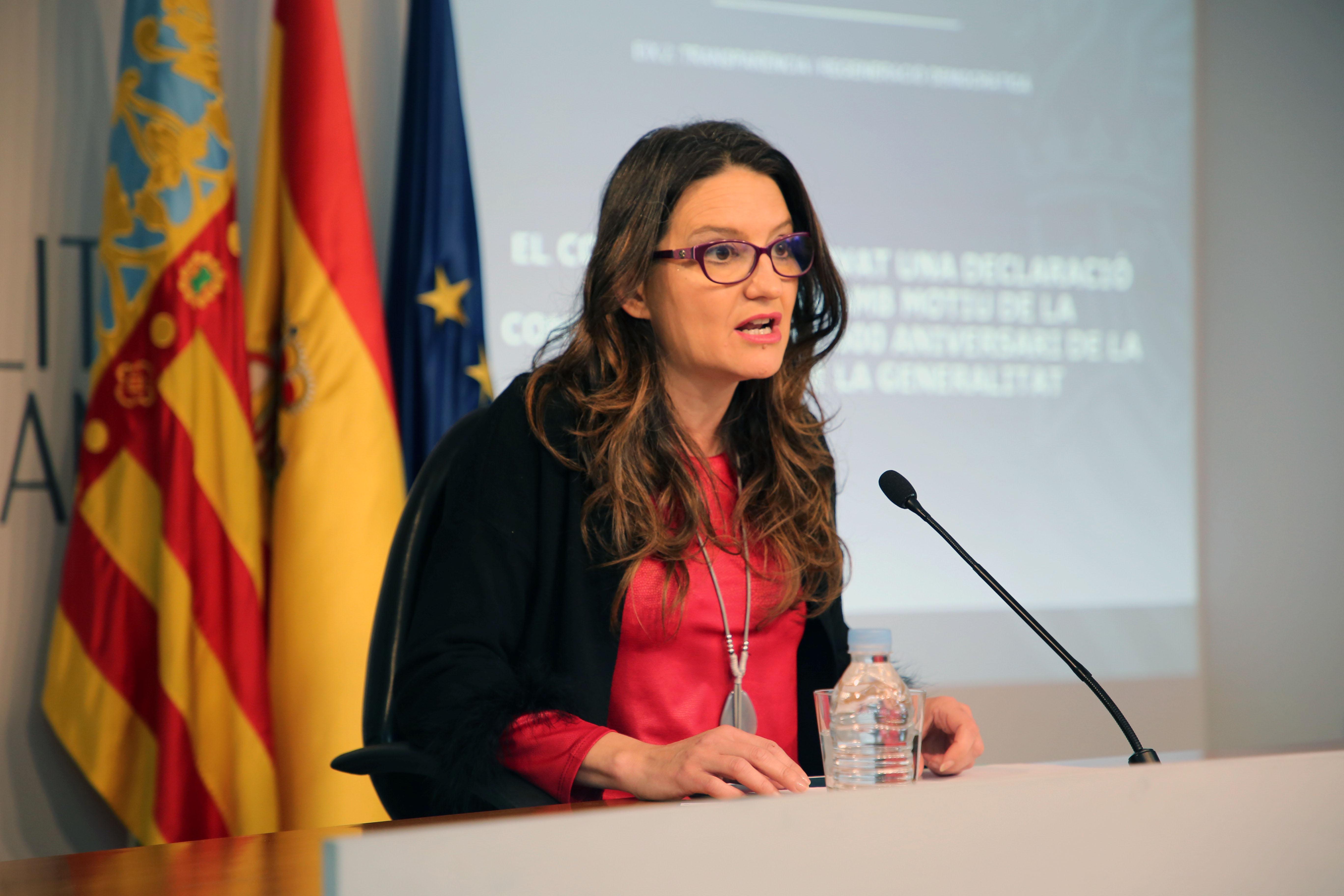 La Vicepresidenta del Consell, Mónica Oltra.