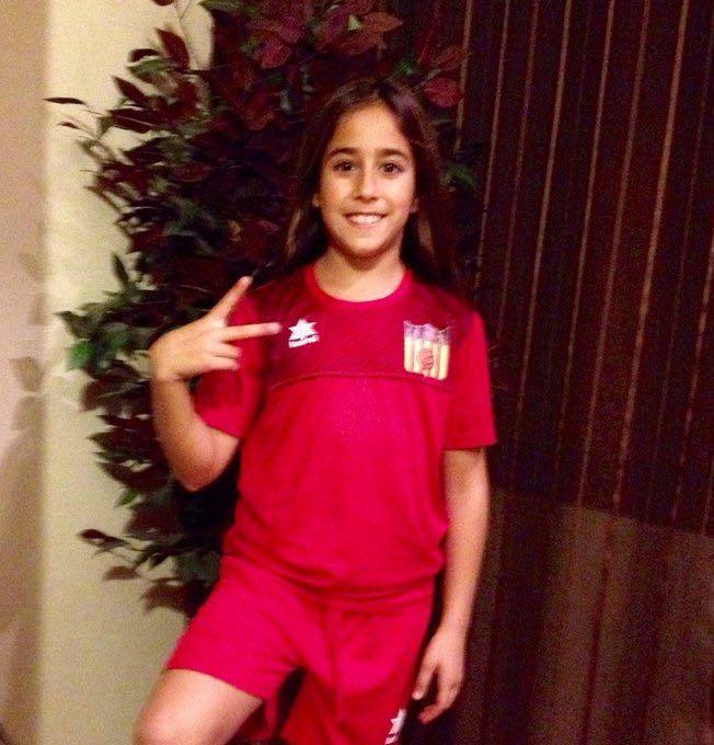 La joven jugadora del CD Buñol Olivia Escobar.