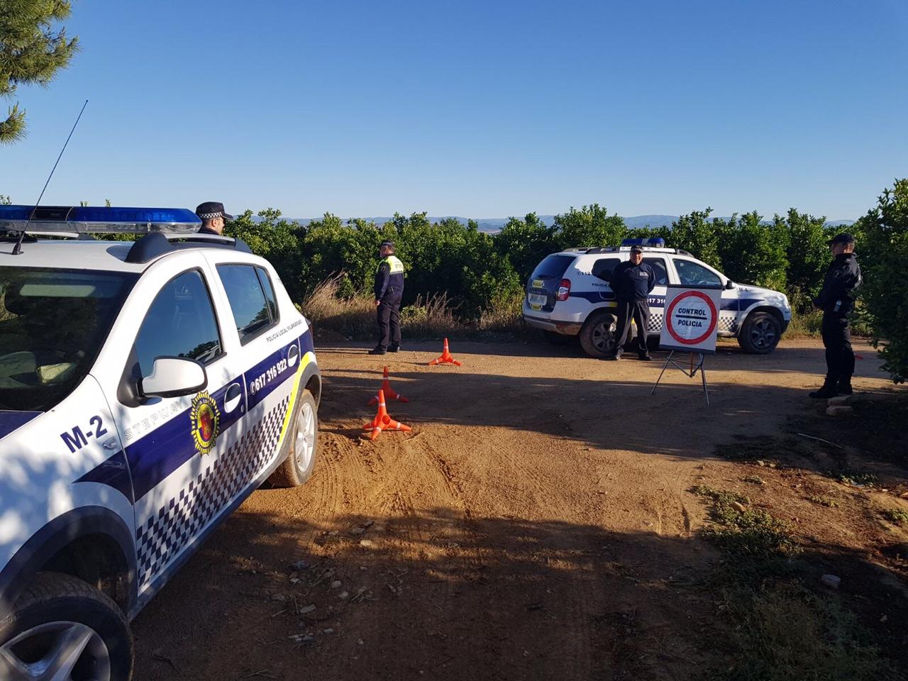 Policía Local de Vilamarxant en una imagen de archivo.