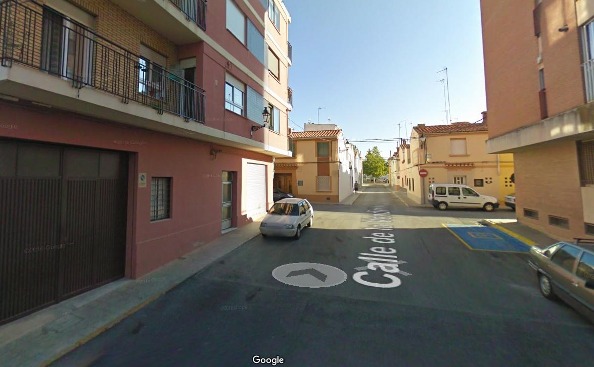 Una imagen de la calle Vendimia de Requena extraída de Google Maps.