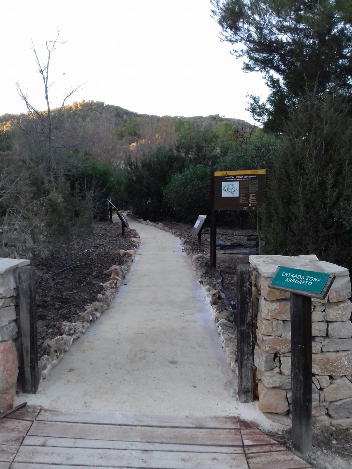 La senda adaptada de l'arborètum del Paratge Natural de les Rodanes.
