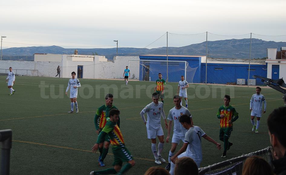 El CD Castellón se ha impuesto al CD Buñol aunque por la mínima. Foto: Raúl Ferrer.