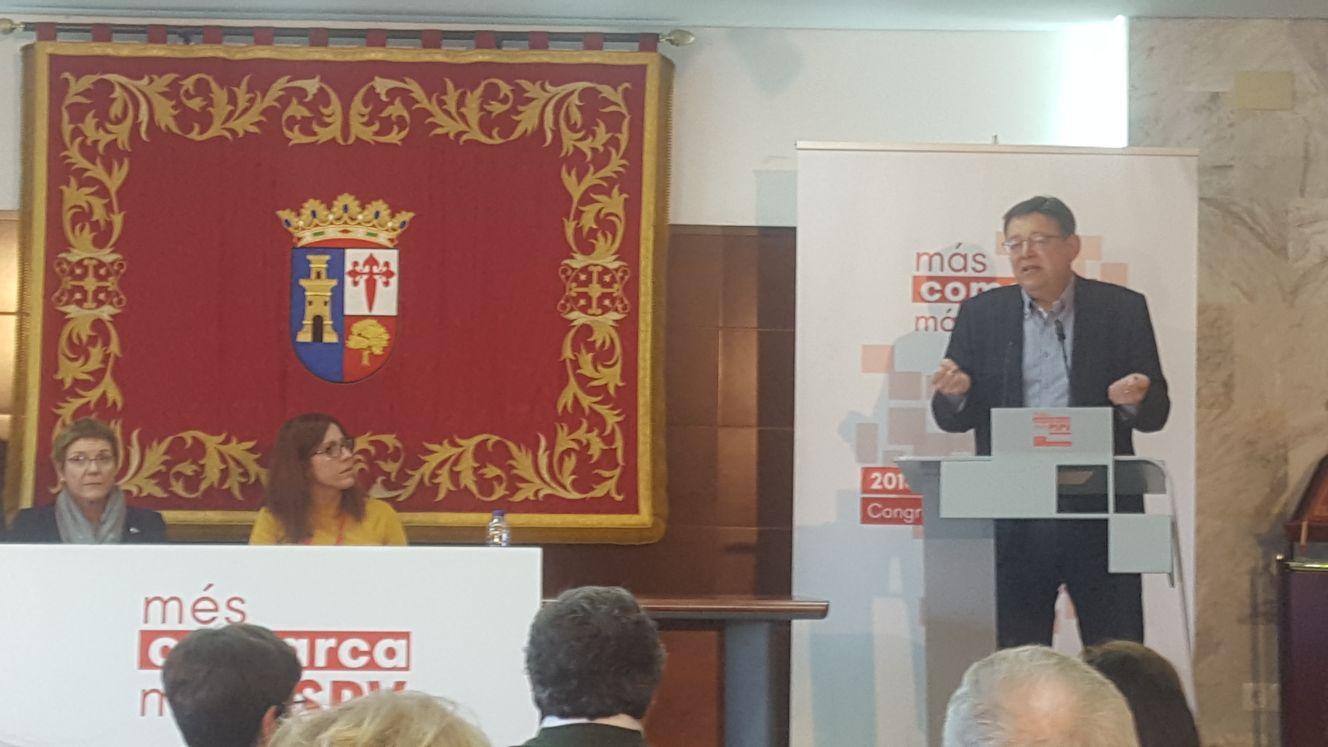 El Secretario General del PSPV-PSOE, Ximo Puig, durante su intervención.