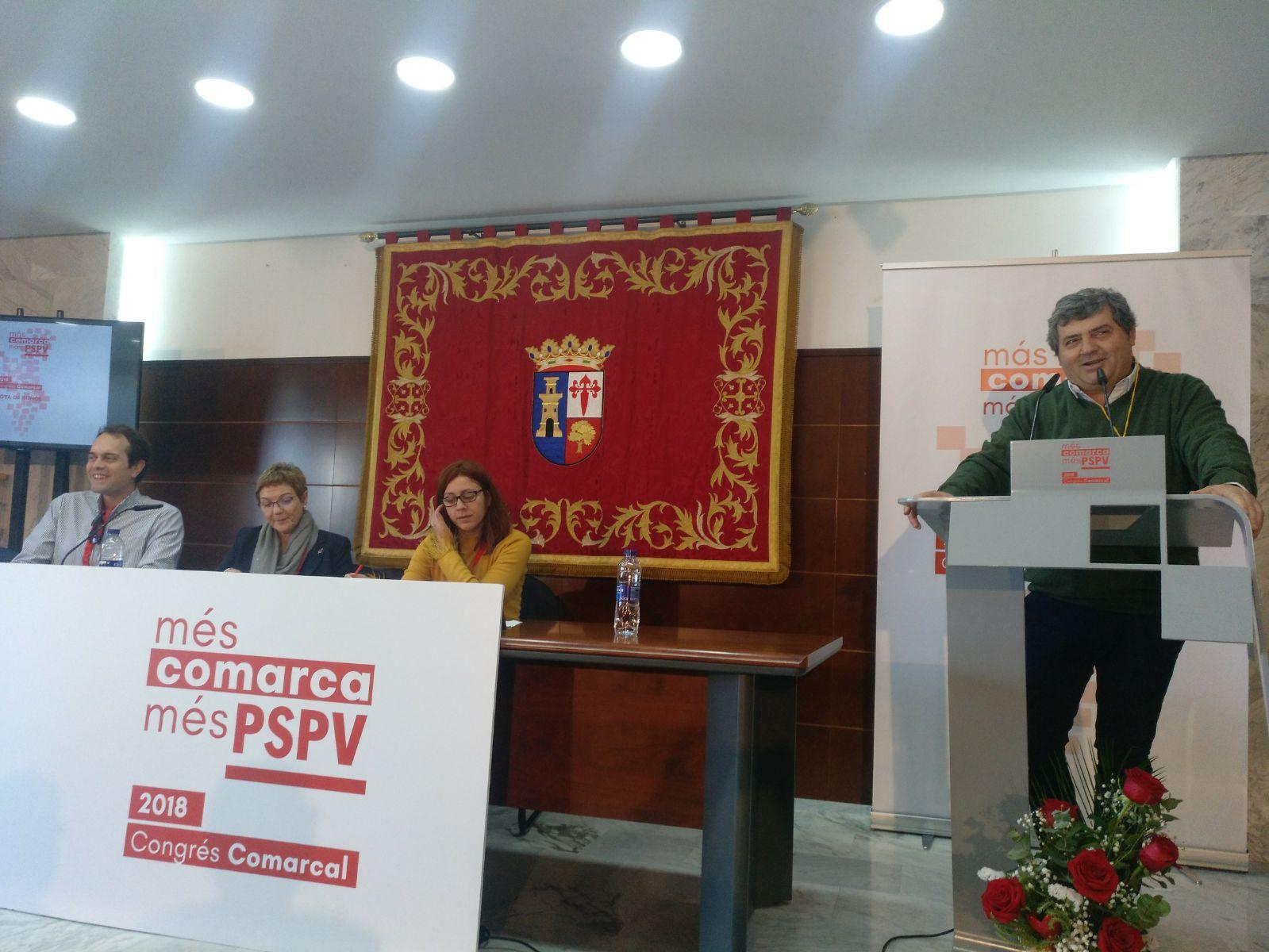 El nuevo Secretario General del PSPV-PSOE en La Hoya, Lucas Ferrando, dirigió unas palabras a los asistentes tras su elección.
