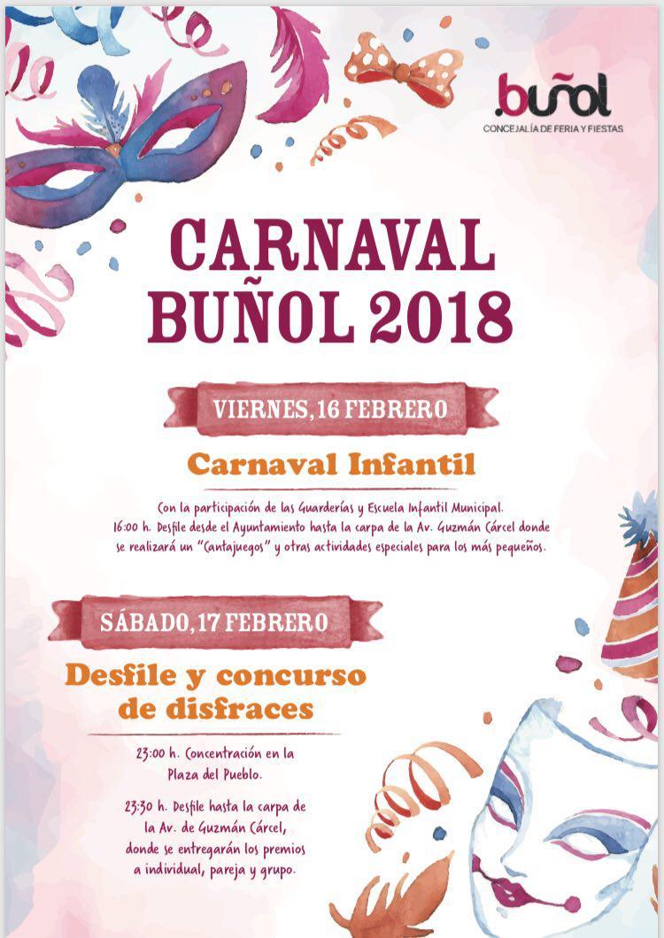 Cartel del Carnaval 2018 en Buñol.