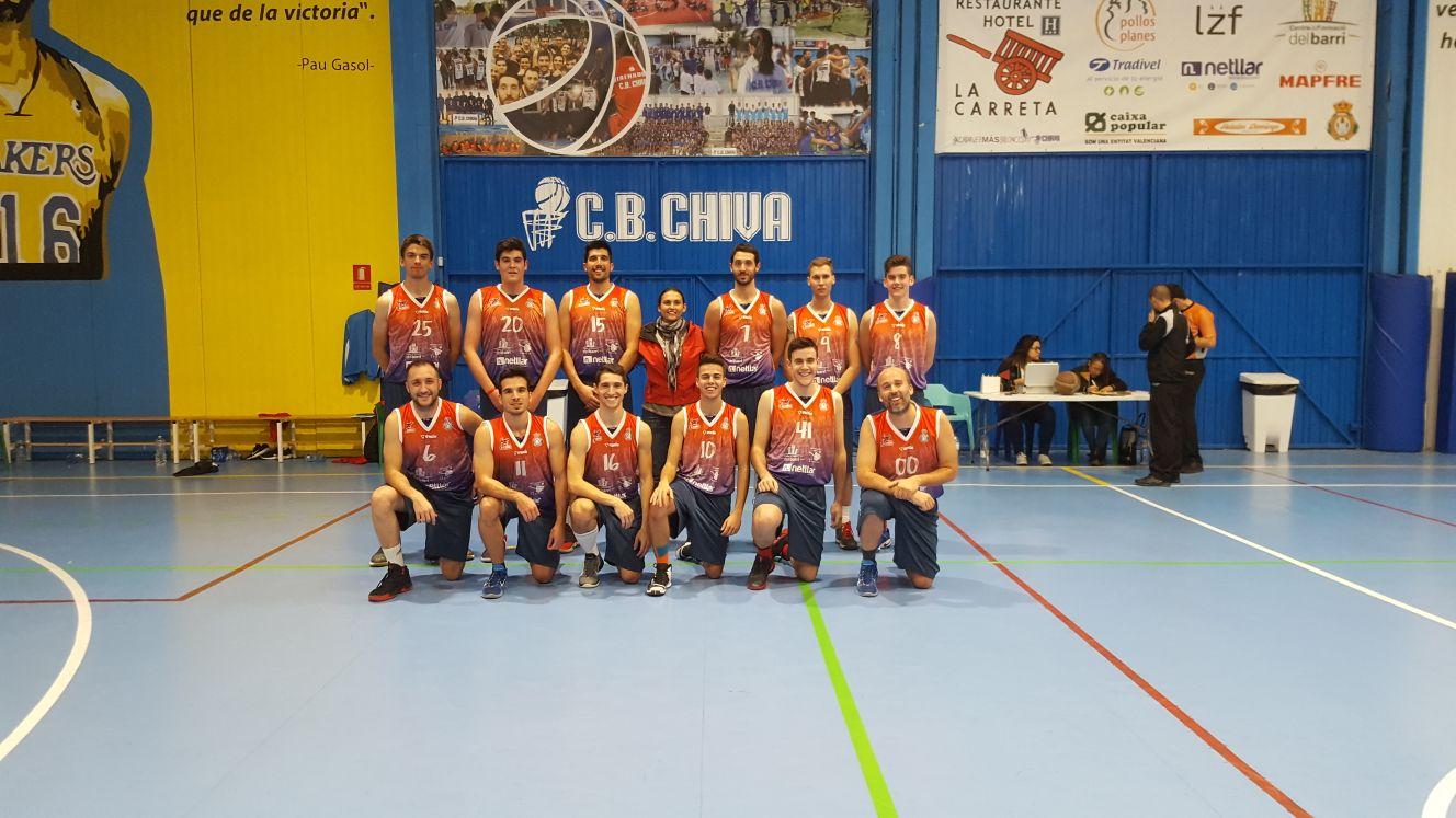 Jugadores del Club de Baloncesto Chiva.