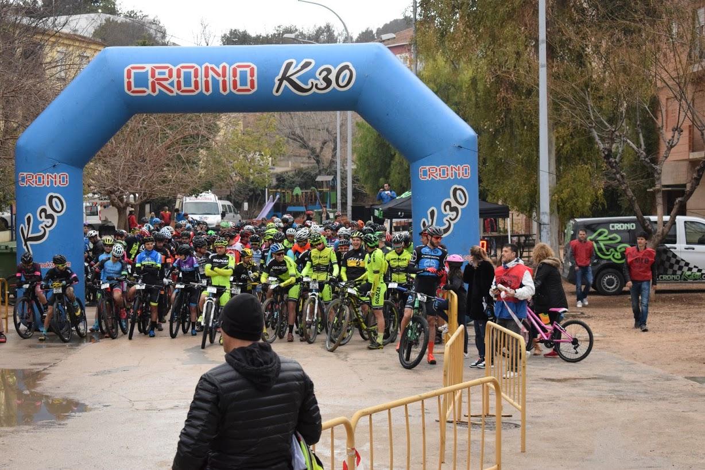 Salida de la XVIII Marcha BTT desde el Parque de San Jaime.