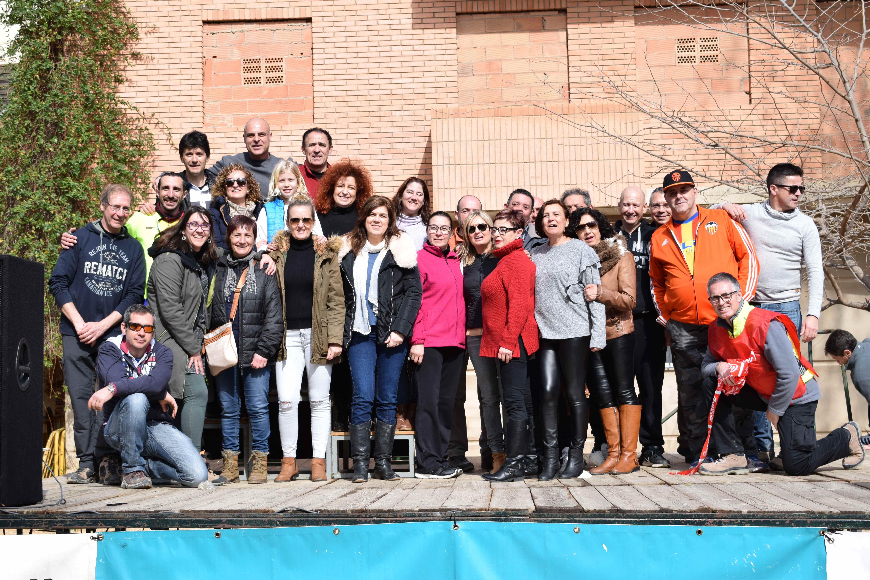 Componentes, colaboradoras y colaboradores del MTB Socaña Alborache.