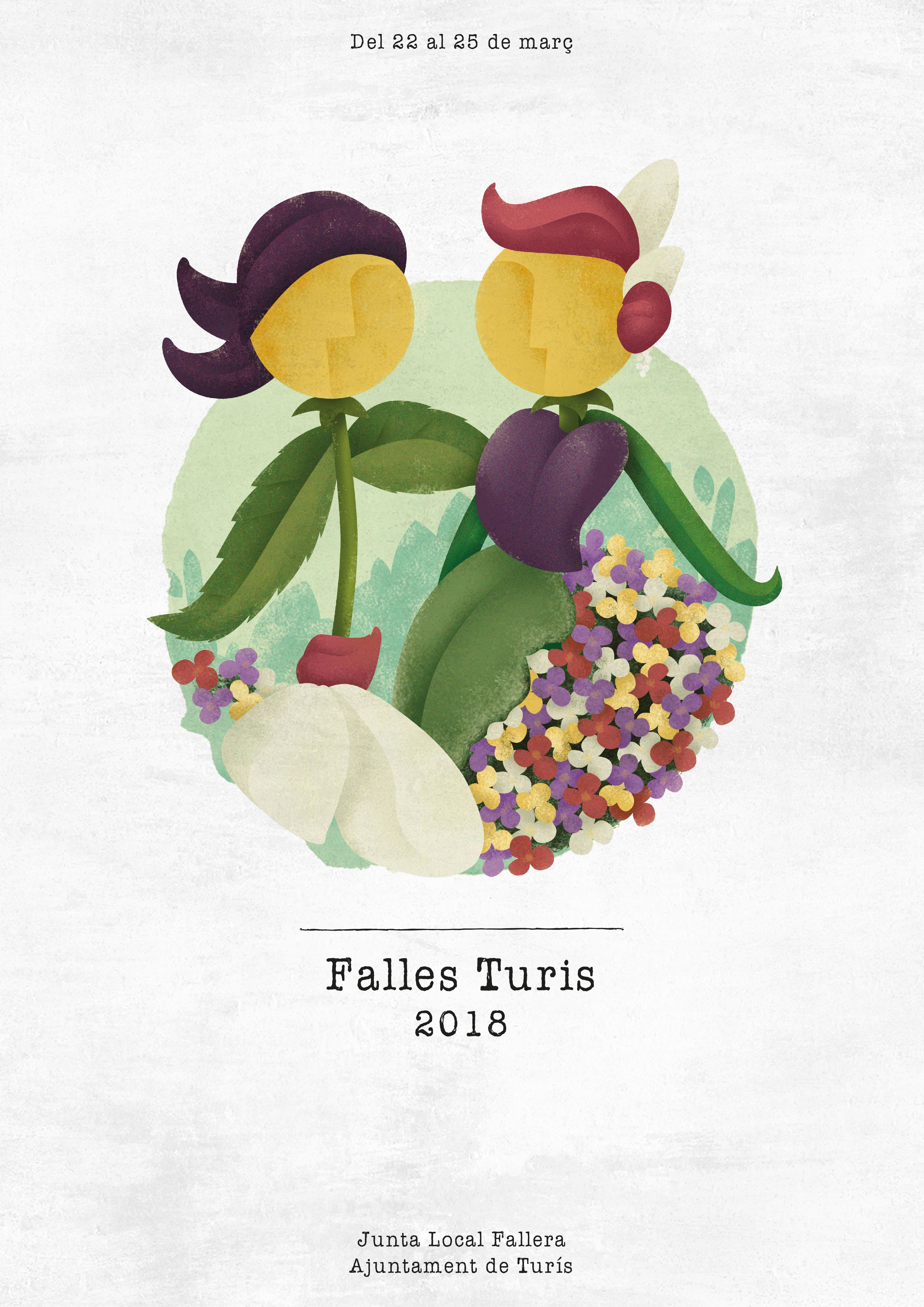 Cartel de les Falles de Turís 2018.