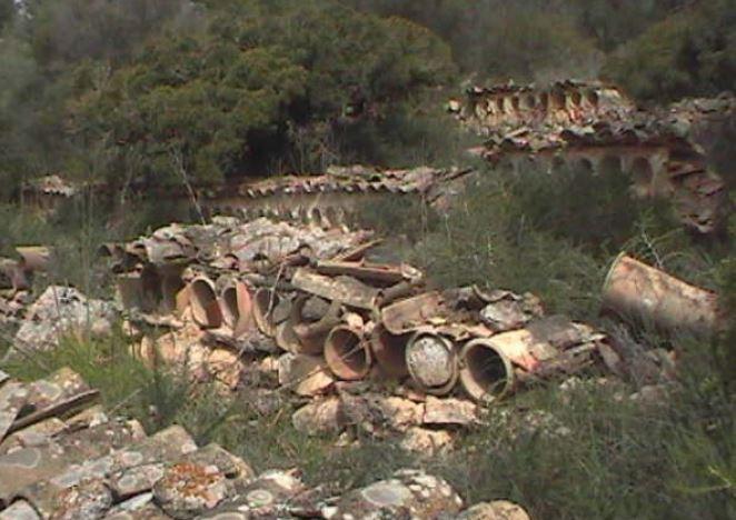 Parte de los restos arqueológicos localizados en la zona.
