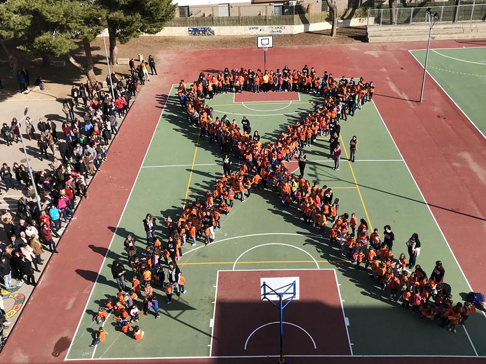El CEIP Horta Major va conmemorar ahir el Dia Escolar de la Pau i la No-violència i va condemnar la violència de gènere.