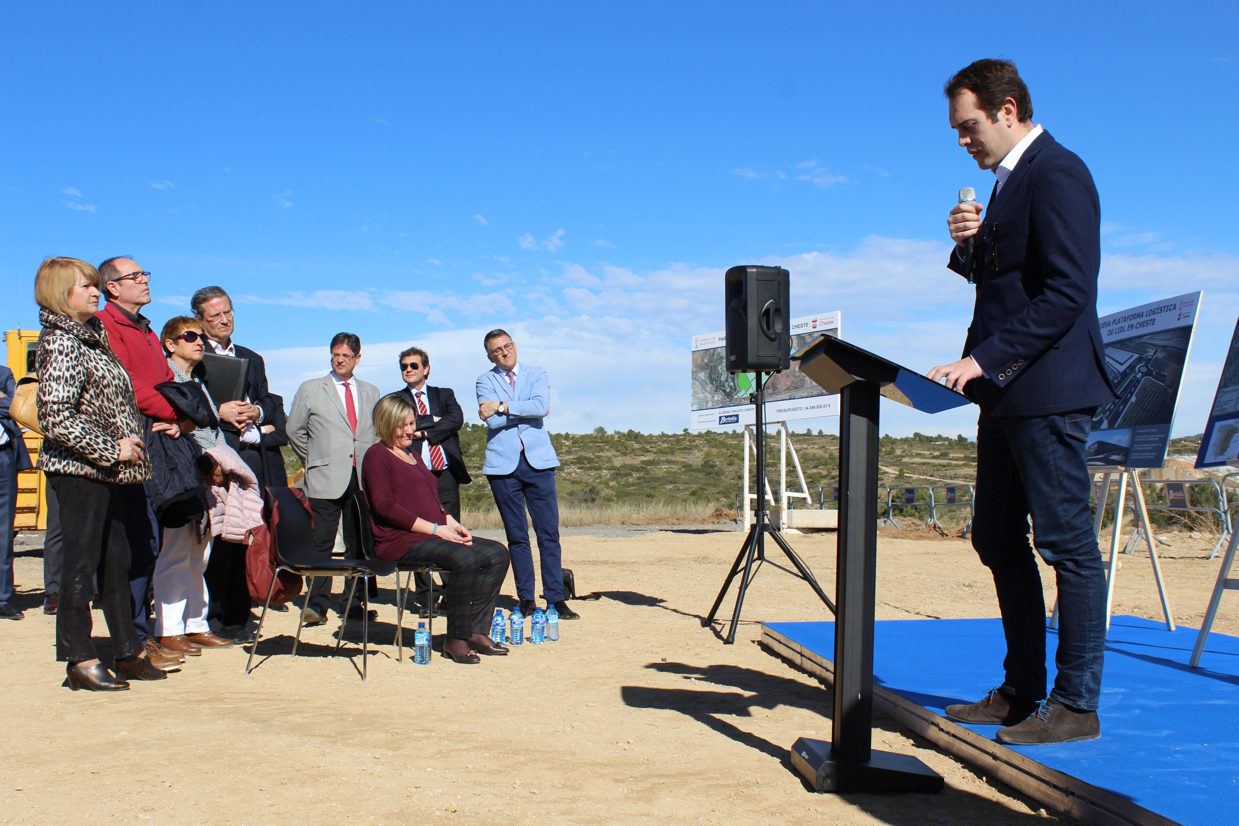 Morell ha destacado la importancia de este parque empresarial para Cheste.