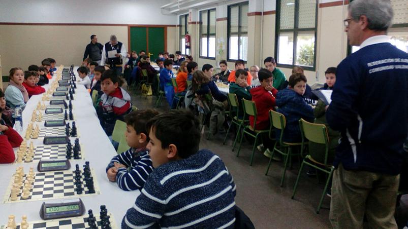 Torneo escolar de ajedrez disputado en Marines.