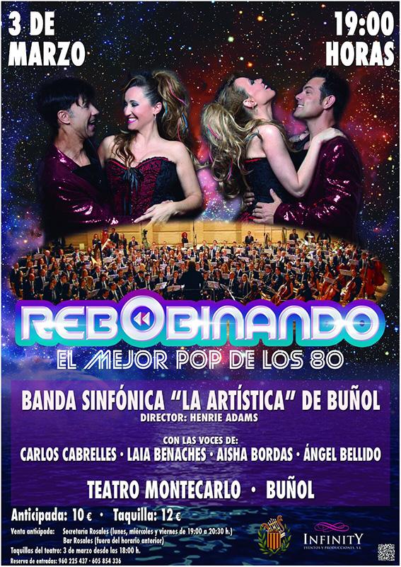 El próximo 3 de marzo en el Teatro Montecarlo de Buñol.