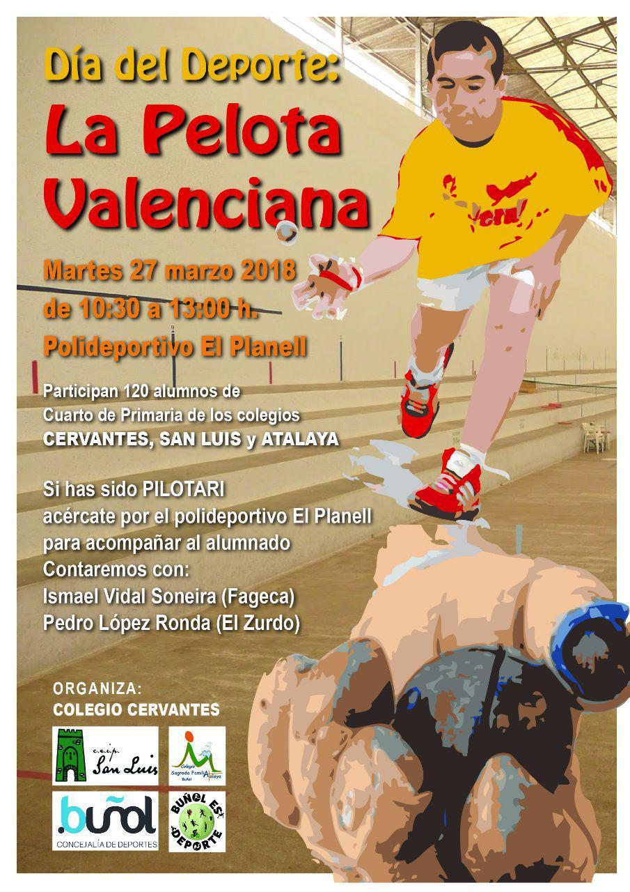 Los alumnos de cuarto de Primaria conocerán la Pelota Valenciana en las instalaciones del Planell con pilotaris profesionales.